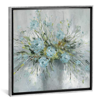 "iCanvas Blue Bouquet Iii by Carol Robinson Gallery-Wrapped Canvas Print - 18"" x 18"" x 0.75"""