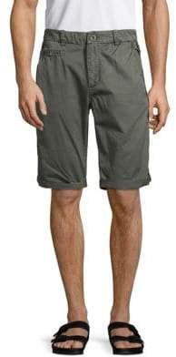 Jet Lag Folded Cuff Cotton Shorts