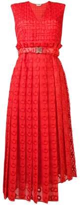 Fendi textured belted dress