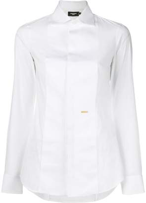 DSQUARED2 concealed placket fitted shirt