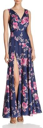 Fame & Partners Makayla Floral Satin Gown - 100% Exclusive