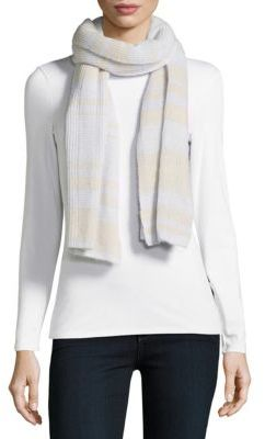 Ribbed Cashmere Striped Scarf $240 thestylecure.com