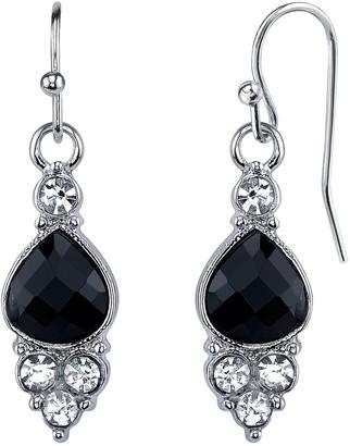 4879783f6 1928 Black Teardrop Cluster Nickel Free Earrings