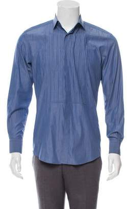 Lanvin Pleated Button-Up Shirt