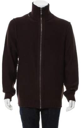 Dolce & Gabbana Virgin Wool Zip-Up Sweater