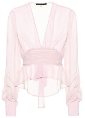 ALEXACHUNG Crêpe blouse