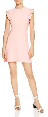 Sandro Laurena Pleat-Detail Mini Dress