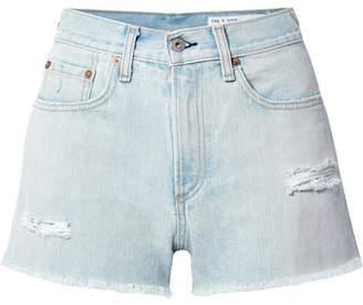 Rag & Bone Justine Distressed Denim Shorts - Light denim