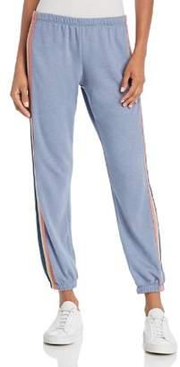 Spiritual Gangster Metallic Track Stripe Sweatpants