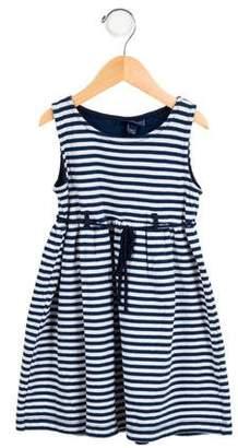 Papo d'Anjo Girls' Striped A-Line Dress