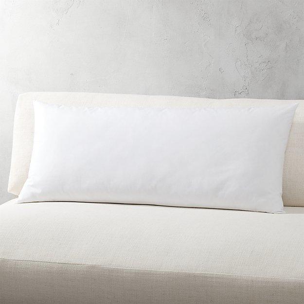 CB2 Down Alternative Rectangular Pillow Inserts
