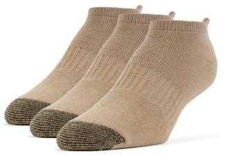 Galiva Men's Cotton Extra Soft No Show Cushion Socks - 3 Pairs