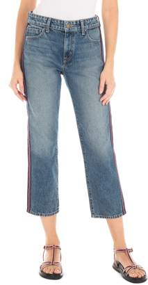 Fidelity Taylor Stripe High Waist Crop Straight Leg Jeans