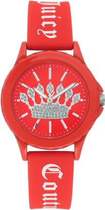Juicy Couture Ladies' Red Sparkle Crown Watch