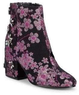 Sam Edelman Taye Embellished Brocade Ankle Boots