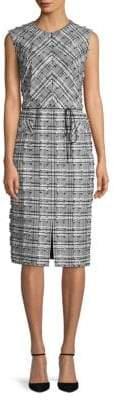 Escada Frayed Checkered Dress