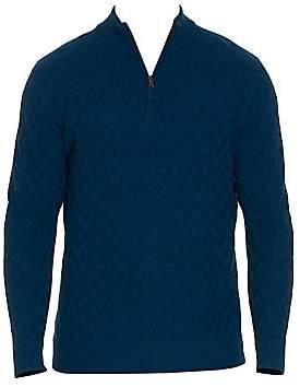 Robert Graham Men's Rowley Wool Quarter-Zip Sweater