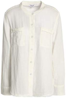 Splendid Frayed Cotton-Gauze Shirt
