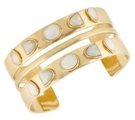 Lucky Brand Golden Hour Double Stone Cuff Bracelet