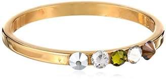 Chamak by Priya Kakkar Round Gold Centered Multi-Color Swarovski Element Crystals Ring