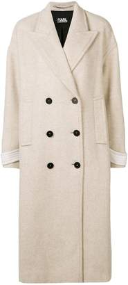 Karl Lagerfeld textured double breasted coat