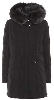Woolrich City fur-trimmed down coat