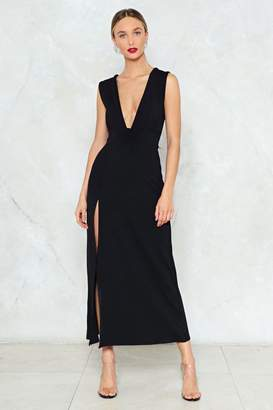 Nasty Gal Deep on Dancing Maxi Dress
