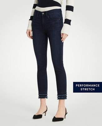 Ann Taylor Petite Curvy Fringe All Day Skinny Crop Jeans