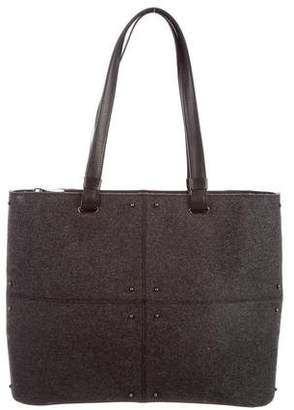 Tod's Leather-Accented Wool Tote