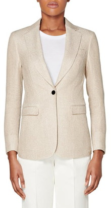 SUISTUDIO Cameron Silk & Linen Suit Jacket