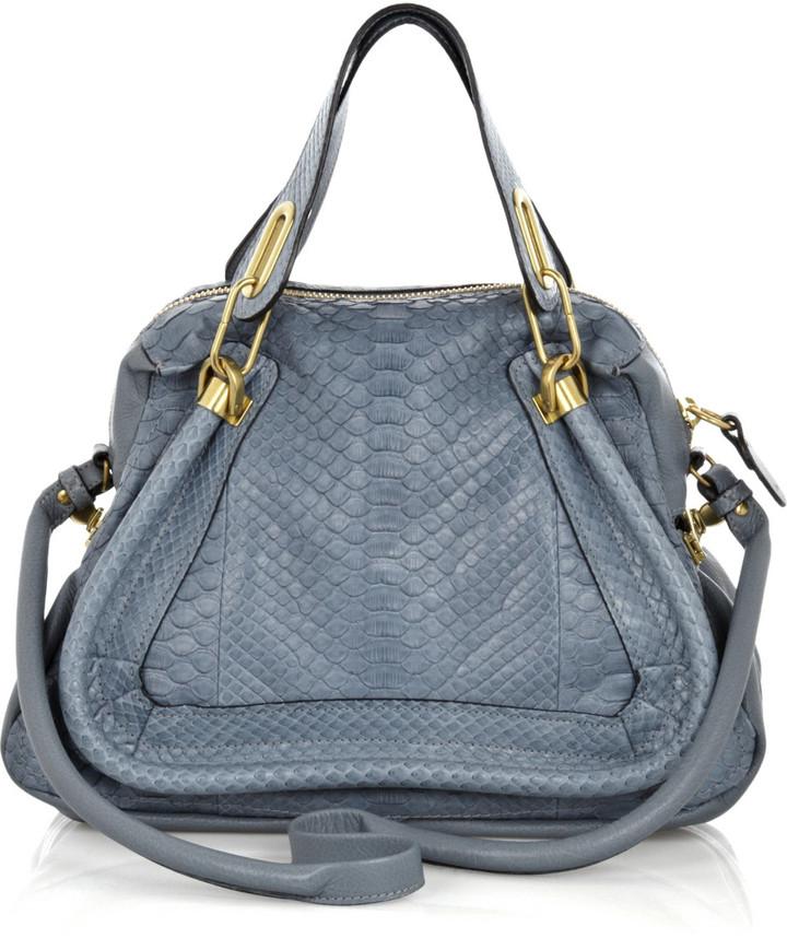 Chloé Paraty medium python bag