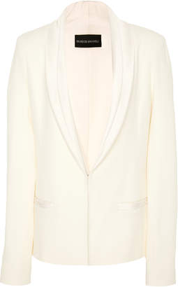 Brandon Maxwell M'O Exclusive Satin Collar Suit Jacket