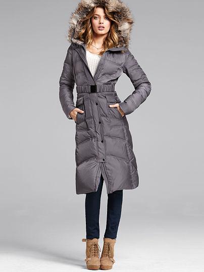 Victoria's Secret Long Puffer Coat
