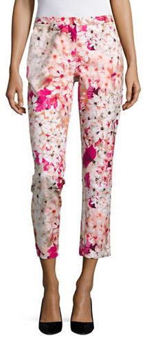 Calvin KleinCalvin Klein Floral-Print Cropped Pants