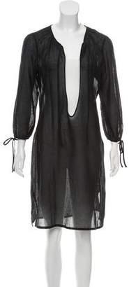 Dolce & Gabbana Knee-Length Semi-Sheer Dress