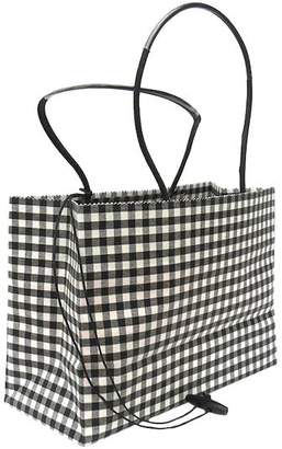 The Brave Brown Bag Small Check Wax Cotton Shopper
