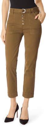 J Brand Kyrah High Waist Crop Cigarette Pants