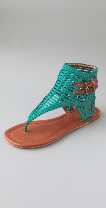 Twelfth St. By Cynthia Vincent Coco Woven Flat Sandals
