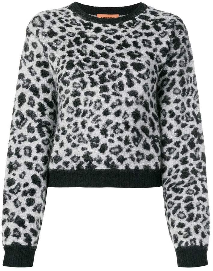 leopard knit jumper