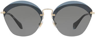 Miu Miu Mu 53ss 63 Blue Rimless Sunglasses