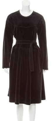 Sonia Rykiel Long Sleeve A-Line Dress
