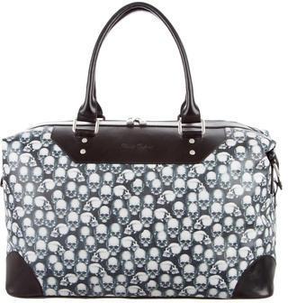 Robert Graham Rambler Skull-Print Leather-Trim Duffle Bag $295 thestylecure.com