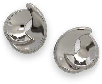 Breuning Sterling Silver Layered Curved Stud Earrings
