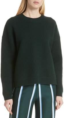 Tory Sport Drop Hem Wool Sweater
