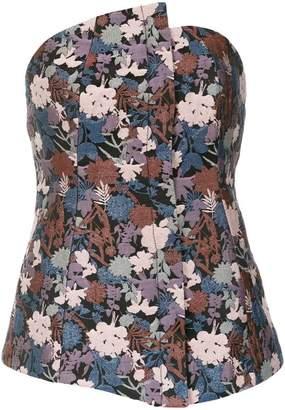 Tufi Duek floral jacquard top