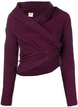 Cavallini Erika cropped cowl neck blouse