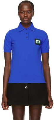 Miu Miu Blue Logo Patch Polo