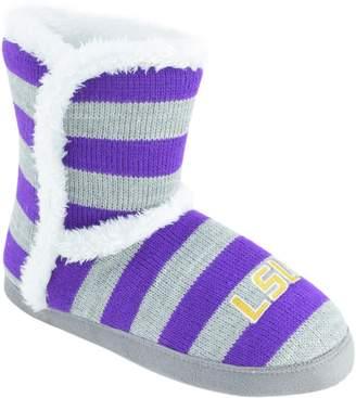 Women's LSU Tigers Striped Boot Slippers