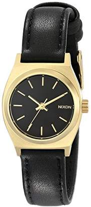Nixon Women's A509010 Small Time Teller Leather Watch