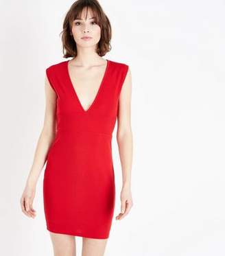 AX Paris Red V Neck Bodycon Dress bb3482f80